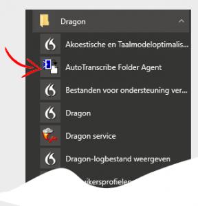 AVT Blog de AutoTranscribe Folder Agent instellen - opstarten via startmenu van Windows