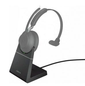 Oplaadstation, dockingstation voor Jabra Evolve2 65 headset - voorbeeld met headset
