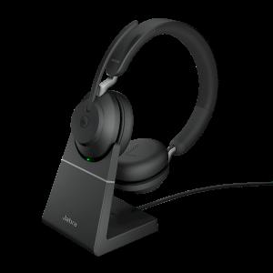 Oplaadstation, dockingstation voor Jabra Evolve2 65 headset - voorbeeld met duo modelheadset