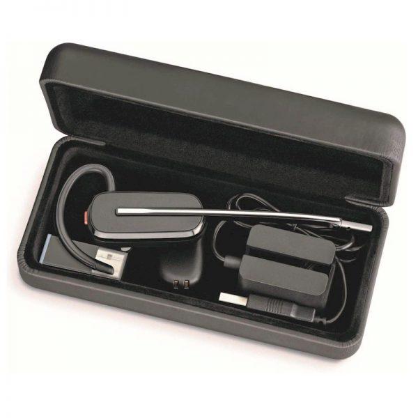 Poly Savi 8245 draadloze Dect headset voor Dragon Spraakherkenning.- met handig opbergdoosje voor onderweg