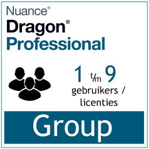 AVT spraak naar tekst spraakherkenning - Dragon Professional Group - Enterprise Dictation- 1-9-licenties - Bij-AVT