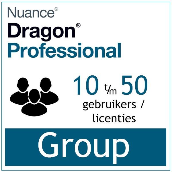 AVT spraak naar tekst spraakherkenning - Dragon Professional Group - Enterprise Dictation- 10 t-m 50 gebruikers - Bij-AVT