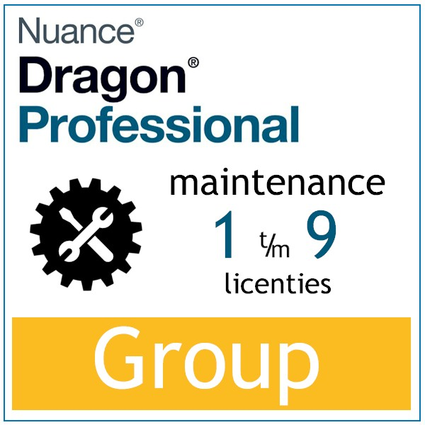 AVT spraak naar tekst - Spraakherkenning - Dragon Professional Group - Maintenace - 1-9 licenties - Bij-AVT