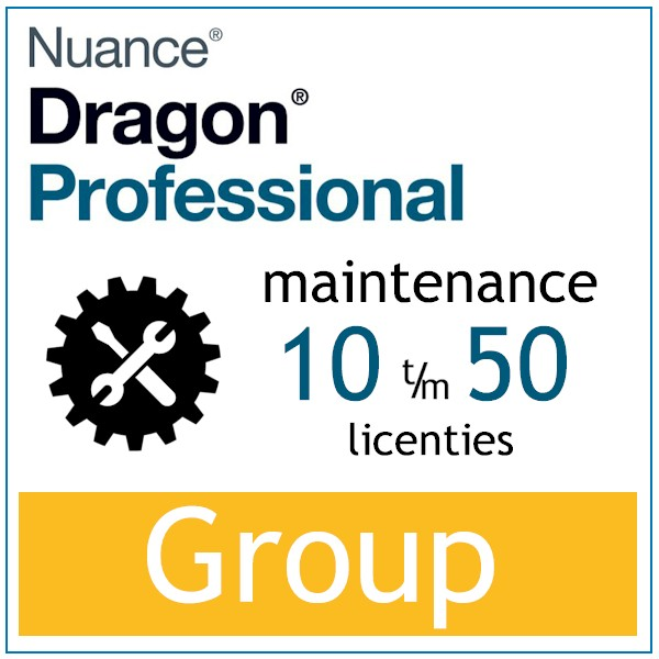 AVT spraak naar tekst - Spraakherkenning - Dragon Professional Group - Maintenace - 10-50 licenties - Bij-AVT