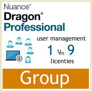 AVT spraak naar tekst - Spraakherkenning - Dragon Professional Group - Nuance User Management Tools - 1-9 gebruikers - Bij AVT