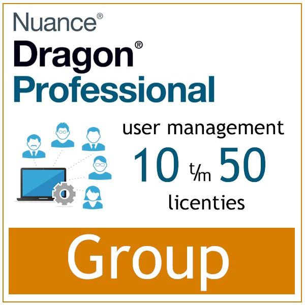 AVT spraak naar tekst - Spraakherkenning - Dragon Professional Group - Nuance User Management Tools - 10-50 gebruikers - Bij AVT