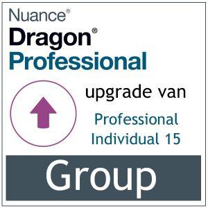 AVT spraak naar tekst - Spraakherkenning - Dragon Professional Group - Upgrade van Individual 15 - Bij-AVT