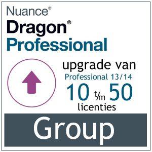 AVT spraak naar tekst - Spraakherkenning - Dragon Professional Group - Upgrade van Professional 13/14 - 10-50 gebruikers - Bij AVT