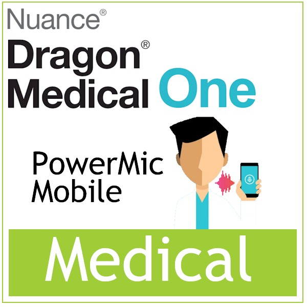 Spraak naar tekst -Medische Spraakherkenning -Dragon Medical One - PowerMic Mobile -Bestellen bij AVT - De Officiële partner van Nuance